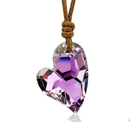 silver crystal necklace070114