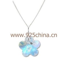 14mm flower necklace080105