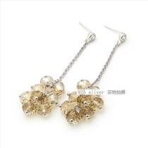 silver earring-122616