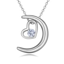 moon heart necklace 26146