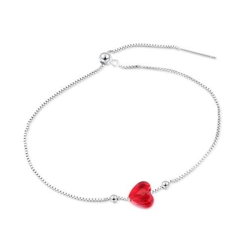 heart silver bracelet 30505