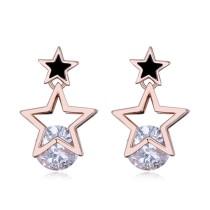 Silver needles star earring 25902