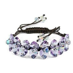 silver Austrias crystal bracelet12040705