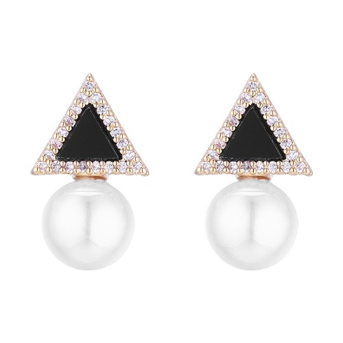 Triangle pearl earrings 30743