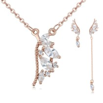Silver needles wing jewelry set 25874