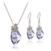 silver   crystal pendant set9702252