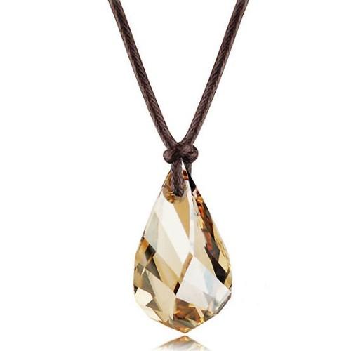 silver crystal necklace062713