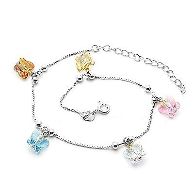 Butterfly  crystal Anklets 970804