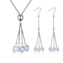 drop zircon jewelry set 25984