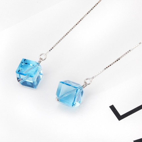 square long earring 8mm