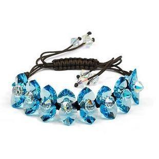 silver Austrias crystal bracelet12040702