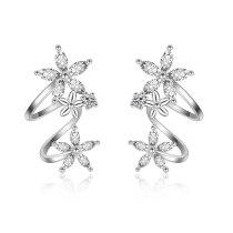 EH133 Zirconium Diamond Circle Earrings Long Style for Women Tassel Earrings Ear Clip Ear Ring Ins Girl's Ear Stud
