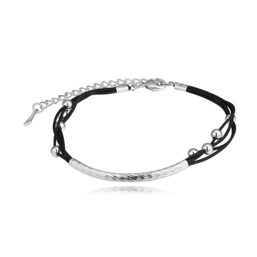 Simple black rope bracelet 26943