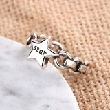 Retro Korean-Style Retro Fashion Individualized And Popular Punk Style Five-Pointed Star Open Ring JZ300