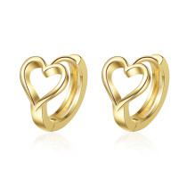 Ear Stud Women's Korean-Style Fashion Temperament Sweet Lovely Ear Clip Heart-Shaped Small Ear Ring Ear Rings Female XZE541