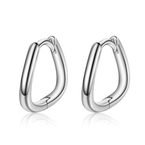 Ear Clip Women's New Fashion Simple And Versatile Geometric Ear Stud Net Red Korean-Style Earrings XZE513