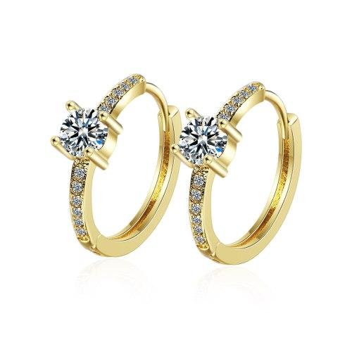 Earrings Female European And American Style Fashion Elegant Smooth Big Ear Ring Cool Ring Zirconium Diamond Ear Clip Rings EH538