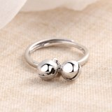 The Dual-Bell Opening Ring For Women Focus Ring Non-Mainstream Normcore Style Adjustable Little Finger Ring JZ295