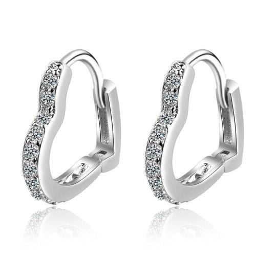 Earrings Female Korean Simple Sweet Love Fresh And Elegant Girl Heart Ear Clip Earrings Ornament Xze522