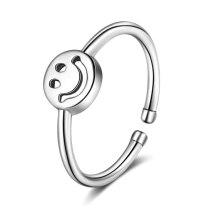 Ring Women's Korean-Style Fashion Retro Smile Ring Ring Personality Temperament Smiley Face Opening Ring Xzr307