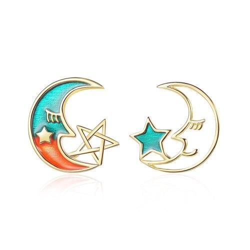 Ear Stud Women's Korean-Style Fashion Small Fresh Gradient Moon Cute Stars EarringsEd879