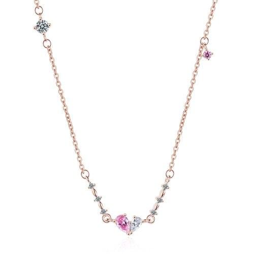 Drop Necklace Women's Korean-Style Elegant Fashion Diamond Set Necklace Cool Sweet Bow Pendant Necklace Xzn505