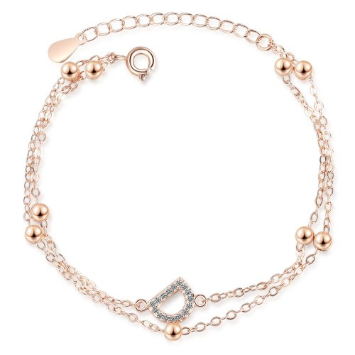 Bracelet Women's Korean-Style Fashion Small And Large D Diamond Set Bracelet Double-Layer Elegant Hand Jewelry SL170