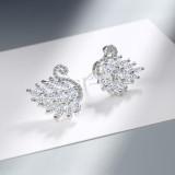 Ear Stud Women's Korean-Style Hipster Diamond Set Mini Swan Cute Elegant Animal Ear Stud Ed877