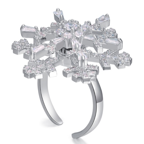 Rotate Snowflakes Ring