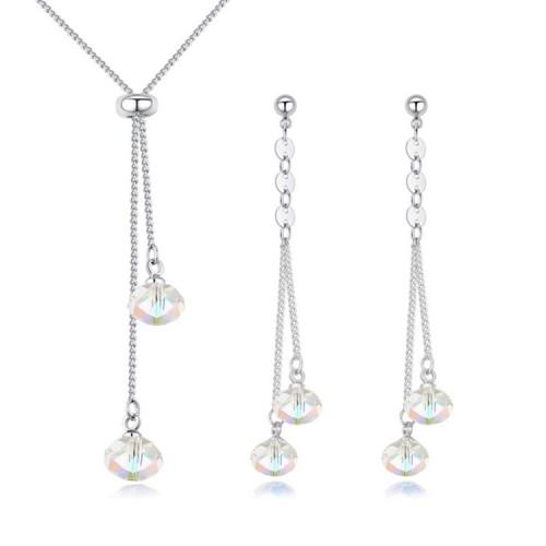drop crystal jewelry set s26007