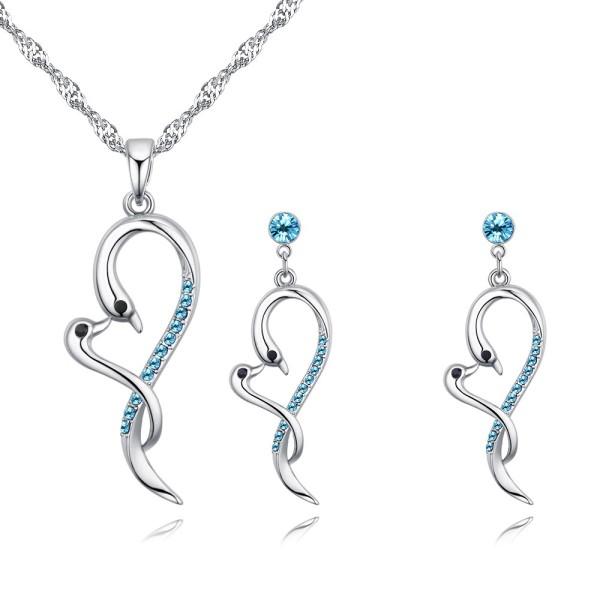 swan heart jewelry set 26747