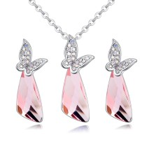 butterfly jewelry set 27052