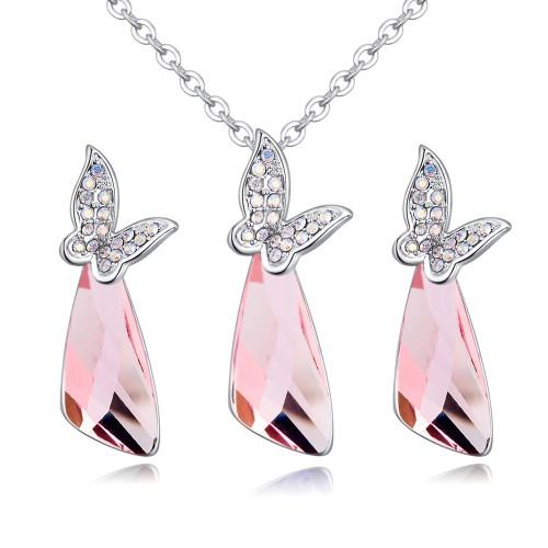 butterfly jewelry set 27052