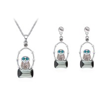 Owl geometric jewelry set 30222