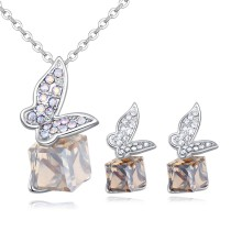Butterfly Square Diamond Jewelry Set 26485