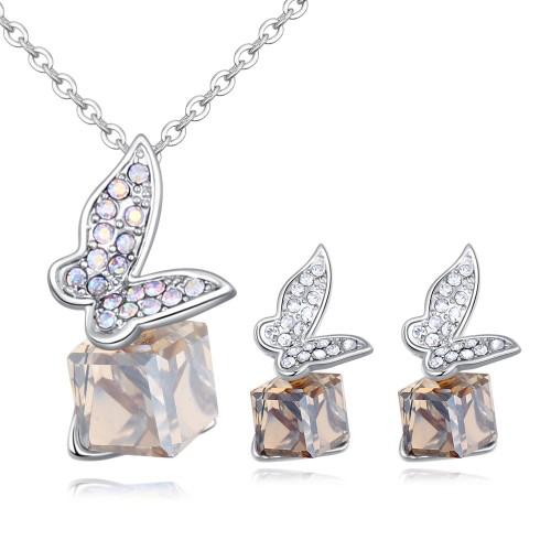 Butterfly Square Diamond Jewelry Set 26485