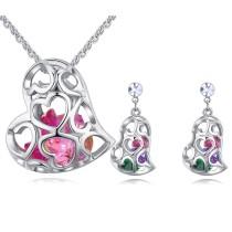 heart jewelry set 26558