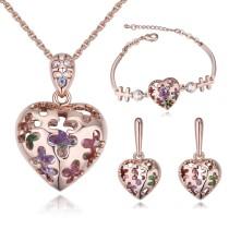 heart jewelry set 26360