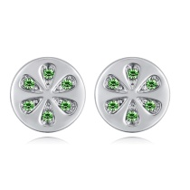 Round earrings 28051