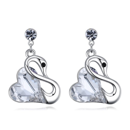 swan earring 26123