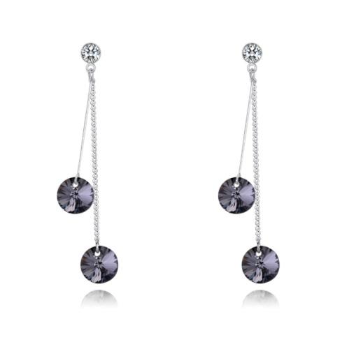 Two-tone earrings 28349