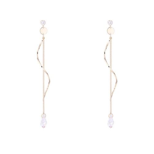 Wave long earrings 30674