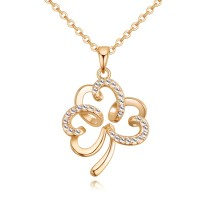 hollow flower necklace 27283