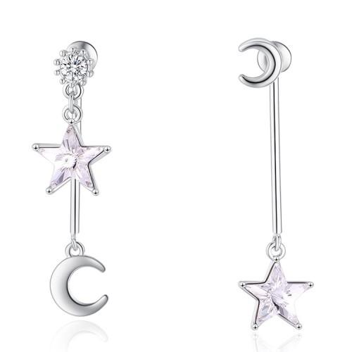 star moon earring