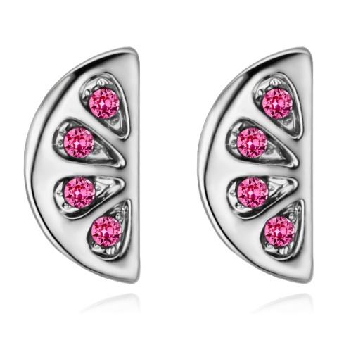 Semicircular earrings 28491