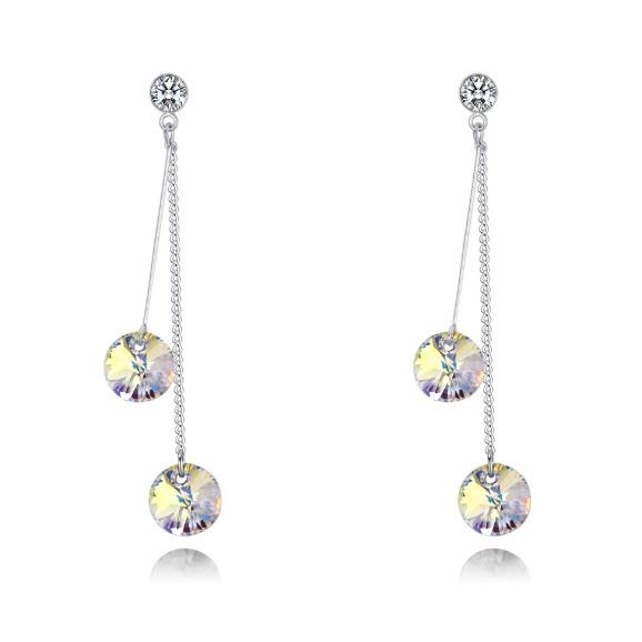 Two-tone earrings 28348