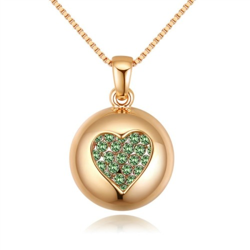 round heart necklace