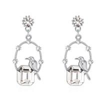 Bird square earrings 30153