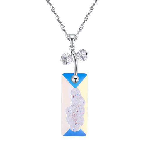 Rectangular necklace 27155