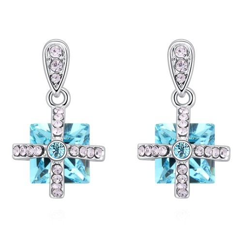 Square earrings 30414